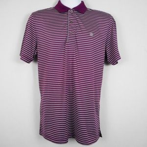 IZOD Shirt M Striped Short Sleeve Golf Polo